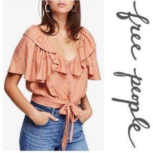 Free People The Rosemary Top Peach